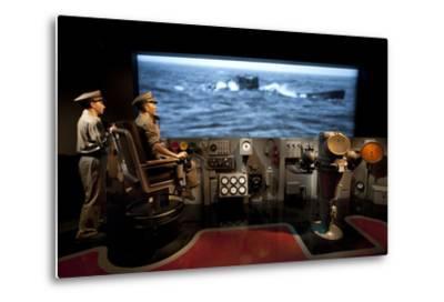 A Display Depicting a Ships Bridge from the U505 Exhibit--Metal Print