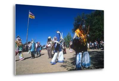Dance of Los Matachines, El Rancho De Las Golondrinas, New Mexico--Metal Print