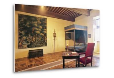 Bedroom, Chateau of Chaban, Saint-Leon-Sur-Vezere, Aquitaine, France--Metal Print