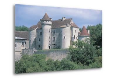 Castle in a Forest, Vaillac Castle, Aquitaine, France--Metal Print