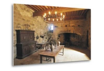 A Room in Chateau of Flamarens, Midi-Pyrenees, France--Metal Print