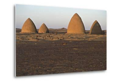 Graves (Qubba) of Holy Men, Old Dongola, Egypt--Metal Print