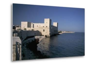 Castle at the Waterfront, Trani, Puglia, Italy--Metal Print