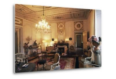 Room in Chateau of Filain, Franche-Comte, France--Metal Print
