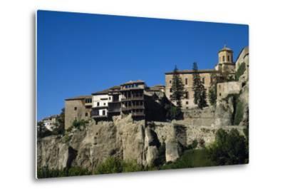 Spain, Castile-La Mancha, Cuenca, Hanging Houses, 15th Century--Metal Print