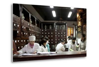 Old Drugstore in Zhongshan Lu, Hangzhou, China--Metal Print