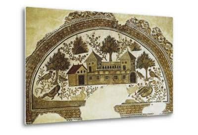 Mosaic Depicting Country Farm, from Sousse, 3rd-4th Century, Tunisia--Metal Print