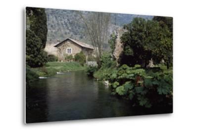River Ninfa, Gardens of Ninfa, Cisterna Di Latina, Rome, Lazio, Italy--Metal Print