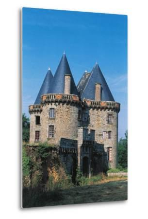 Chateau of Landal, Founded in 12th Century, Broualan, Brittany, France--Metal Print