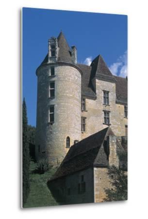 Low Angle View of a Castle, Panassou Castle, Aquitaine, France--Metal Print