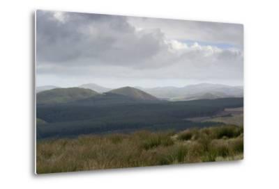 The Cheviot Hills, Seen from Carter Bar, Scottish/English Border, UK--Metal Print