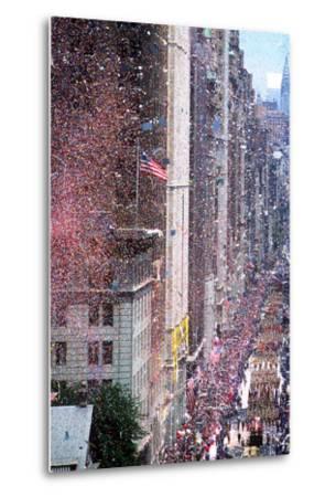Ticker Tape Parade, New York, New York--Metal Print
