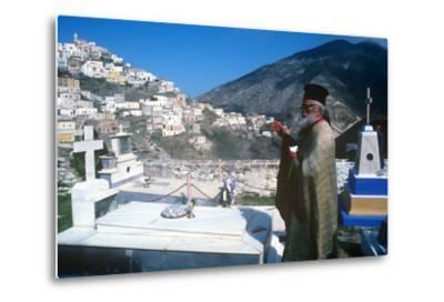 Easter Celebration, Olymbos, Karpathos, Greece--Metal Print