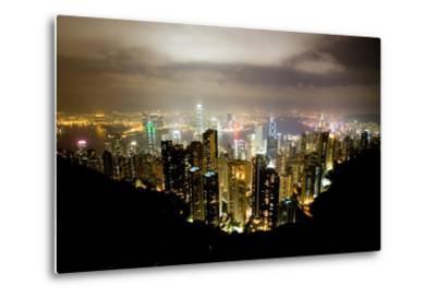 Hong Kong, China: Hong Kong Skyscrapers from High Above-Ben Horton-Metal Print