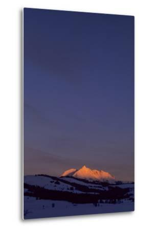 Distant View of Snow-Covered Electric Peak-Tom Murphy-Metal Print