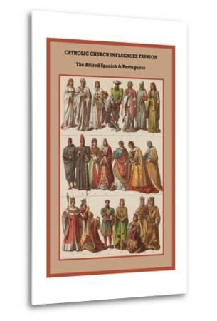 Catholic Church Influences Spanish and Portuguese-Friedrich Hottenroth-Metal Print