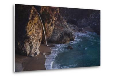 Julia Pfeiffer Burns State Park, Big Sur, California: Mcway Waterfall Just after Sunset-Ben Horton-Metal Print