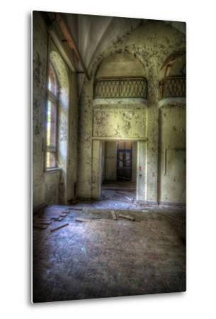 Abandoned Building Interior-Nathan Wright-Metal Print