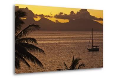 The Island of Mo'Orea as Seen from Tahiti-Mauricio Handler-Metal Print