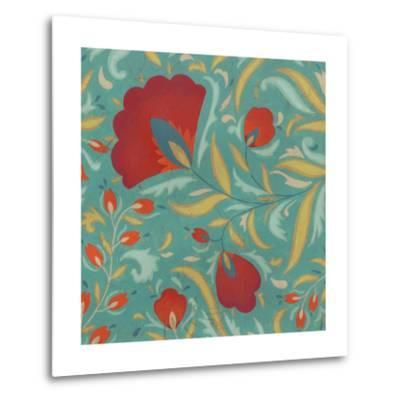 Vibrant Textile I-June Erica Vess-Metal Print