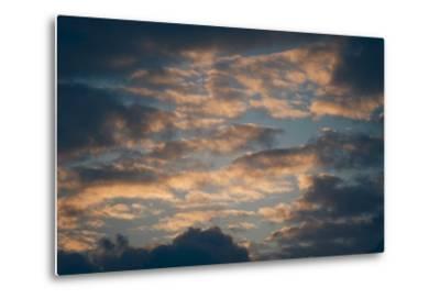 Dark Clouds over a Hilly Landscape at Sunset-Clive Nolan-Metal Print