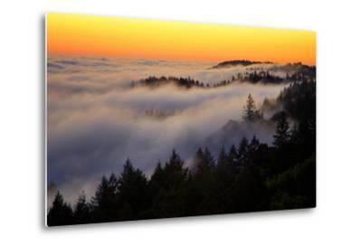 Mount Tamalpais After Sunset, Northern California-Vincent James-Metal Print