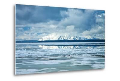 Icy Summer Landscape at Yellowstone Lake, Wyoming-Vincent James-Metal Print