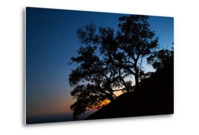Sunset over the Santa Monica Mountains and the Pacific Ocean-Ben Horton-Metal Print