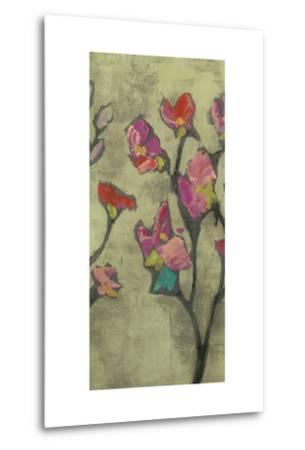 Impasto Flowers II-Jennifer Goldberger-Metal Print