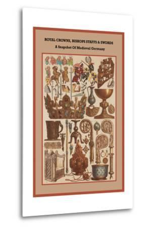 Royal Crowns, Bishops Staffs and Swords - Medieval Germany-Friedrich Hottenroth-Metal Print