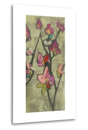 Impasto Flowers III-Jennifer Goldberger-Metal Print