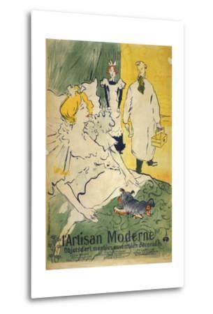 L'Artisan Moderne (1895)-Henri de Toulouse-Lautrec-Metal Print