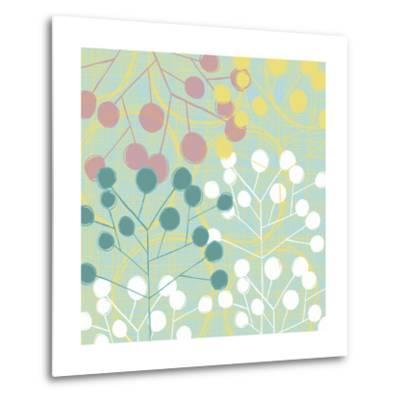 Popping Flowers II-Ali Benyon-Metal Print