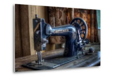 Old Sowing Machine-Nathan Wright-Metal Print