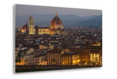Sunrise over the Duomo and Florence Cathedral-Erika Skogg-Metal Print