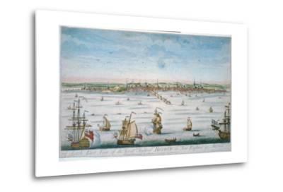 Boston in 1750-John J. Carwitham-Metal Print