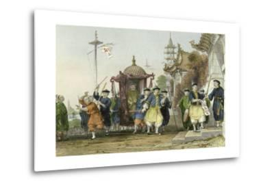 Mandarin Paying Visit-Thomas Allom-Metal Print