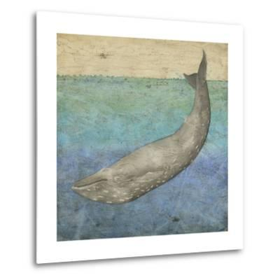 Diving Whale I-Megan Meagher-Metal Print