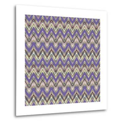 Chevron Waves IV-Katia Hoffman-Metal Print