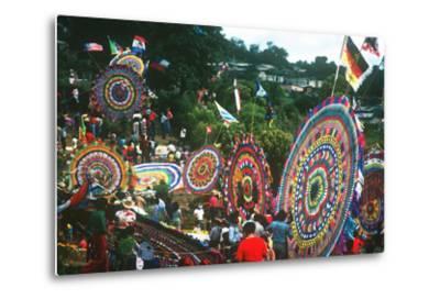 Giant Kite Festival, All Souls All Saints Day, Guatemala--Metal Print