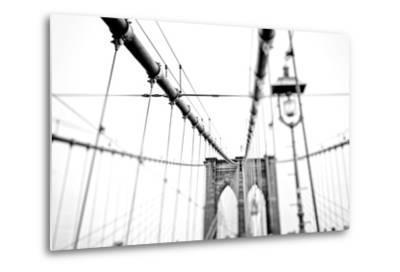Cables Suspended from the Brooklyn Bridge-Kike Calvo-Metal Print