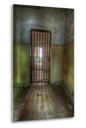 Cell with Metal Door-Nathan Wright-Metal Print