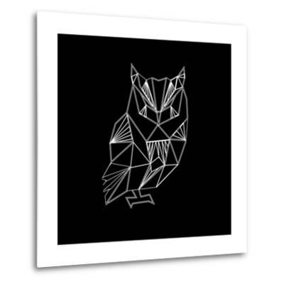 Owl Polygon-Lisa Kroll-Metal Print