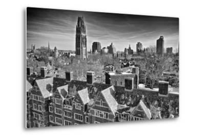 Yale University after a Winter Blizzard-Kike Calvo-Metal Print