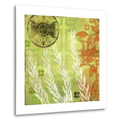 English Tea Garden II-Evelia Designs-Metal Print