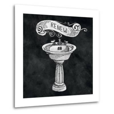 Chalkboard Bath Renew-Mary Urban-Metal Print