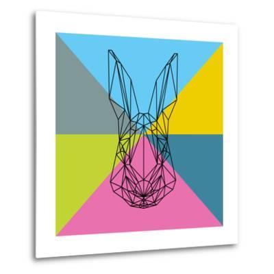 Party Rabbit-Lisa Kroll-Metal Print