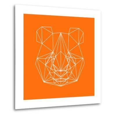 Panda on Orange-Lisa Kroll-Metal Print