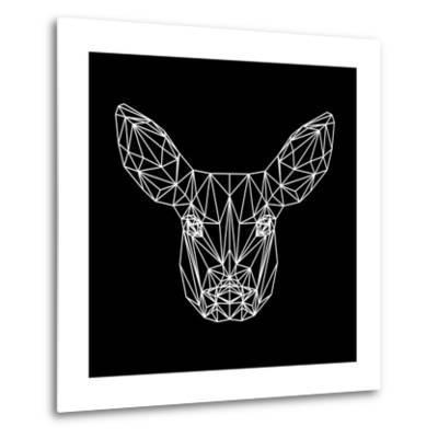 Baby Deer Polygon-Lisa Kroll-Metal Print