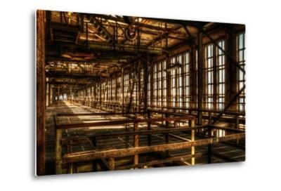 Abandoned Power Plant Interior-Nathan Wright-Metal Print